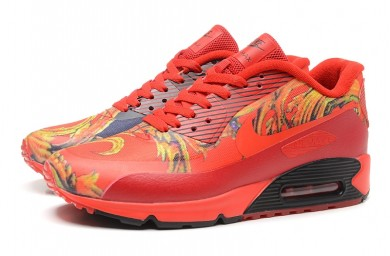 Nike Air Max 90 HYP PRM formadores zapatillas rojas