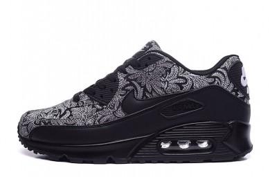 Nike Air Max 90 Zapatos de la zapatillas de pintura negro