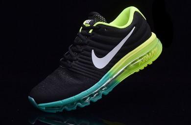Nike Air Max 2017 zapatos negro-verde formadores para los hombre