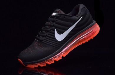 Nike Air Max 2017 zapatillas de deporte negras de color rojo para hombre