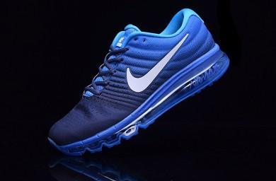 Nike Air Max 2017 zapatillas de deporte formadores azul profundo azul-real para hombre