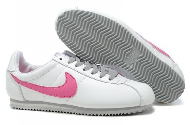 Nike Classic Cortez Cuero 09 zapatos para mujer de rosado blanca por