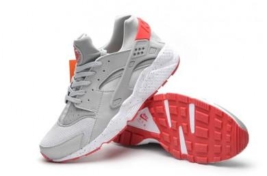 Nike Air Huarache gris claro y rojo zapatillas para hombre