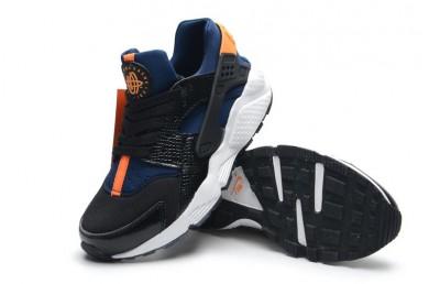 Nike Air Hurache Wmns naranja zapatillas de deporte negro royalazul