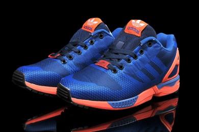 Adidas ZX Flux tejer para los zapatos para hombre mediumazul/oscuroslateazul/tomate