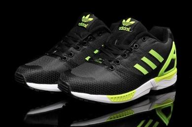 Adidas ZX Flux tejer para hombre de color verde amarillo/negro/amarillo Zapatos de la zapatillas