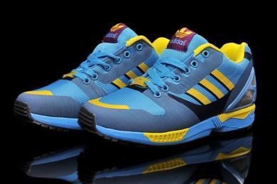 Adidas ZX Flux tejer para hombre deepskyazul/cadetazul/formadores de color amarillo
