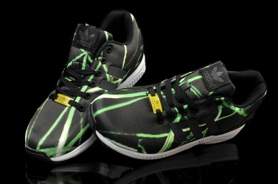 Adidas ZX Flux de iluminación para hombre zapatos negro/verde