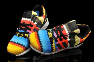 Adidas ZX Flux colores del arco iris Zapatos de la zapatillas