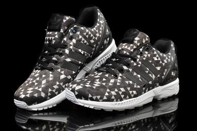 Adidas ZX Flux negro prisma/zapatos blancos/marrones para el hombre
