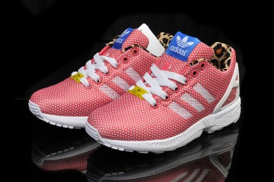 Adidas ZX Flux zapatos para mujer de color rosa salmón formadores