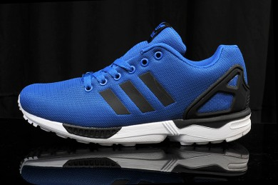 Adidas ZX Flux para hombre azul/negro trainers reales