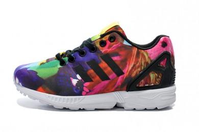 Adidas ZX Flux para mujer de las zapatillas de deporte de la pintada de peonía