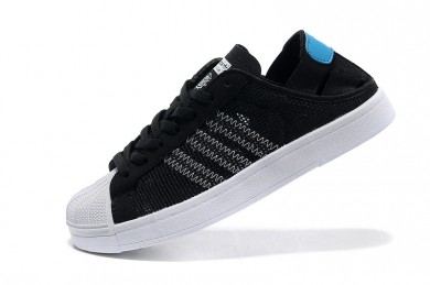 Adidas Superstar Breathe para hombre negro/blanco/celeste formadores zapatillas de deporte
