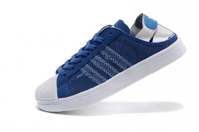 Adidas Superstar Breathe para hombre zapatillas de deporte azul/blanco