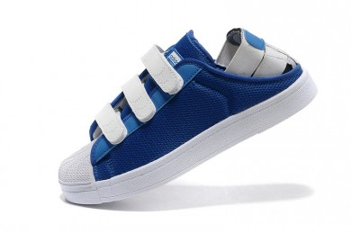 Adidas Superstar verano se pueden respirar hombre royalazul/formadores zapatillas blancas