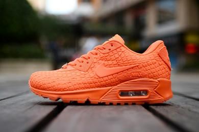 naranja Nike Air Max 90 zapatos Ciudad diosa rojo mujer formadores