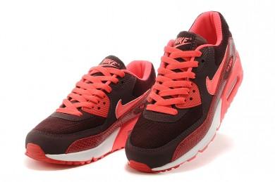 Nike Air Max 90 zapatos para niños formadores de color rojo-negro