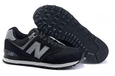 New Balance 574 zapatos Negro, gris para los hombre de