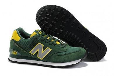 New Balance 574 zapatillas de deporte trainers verde, gris para los hombre de