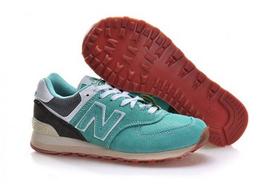 New Balance 574 zapatos de los hombre azules de la turquesa