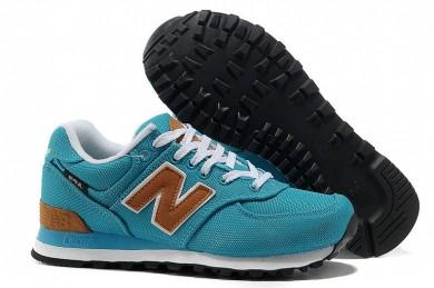 New Balance 574 azul para los zapatos para mujer