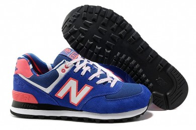 New Balance 574 azul, zapatillas de deporte Naranja + Blanco para mujer