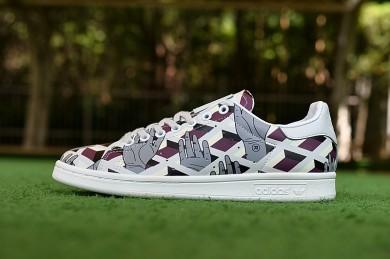Adidas Stan Smith zapatos Ceremonia de apertura hombreos garabatos formadores