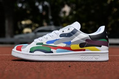 Adidas Stan Smith formadores de colores garabatos zapatillas de deporte