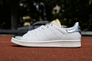 Adidas Stan Smith zapatillas de deporte de plata blanco