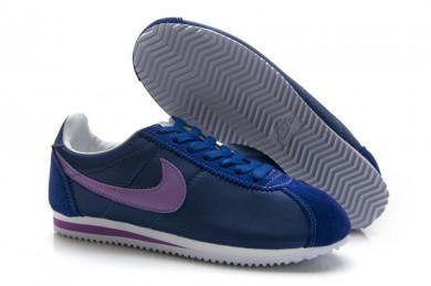las zapatillas de deporte Nike Classic Cortez Nylon Armada púrpura para las mujeres