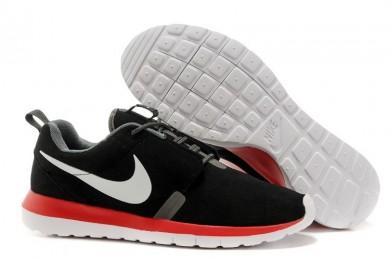 Nike Roshe Run NM BR 3M gamuza negra para hombre Zapatos de la zapatillas de color gris/dim/blanco/naranja-rojo