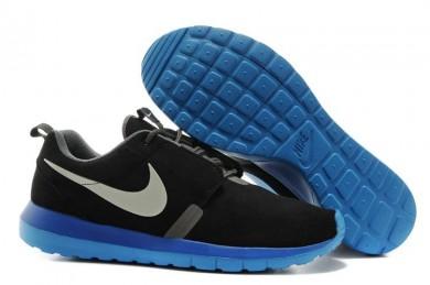 Nike Roshe Run NM BR 3M Suede para hombre Negro // Gris claro formadores zapatillas de deporte