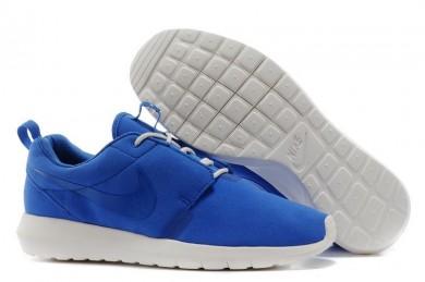 Nike Roshe Run NM BR 3M Suede para hombre reales zapatillas de deporte azules