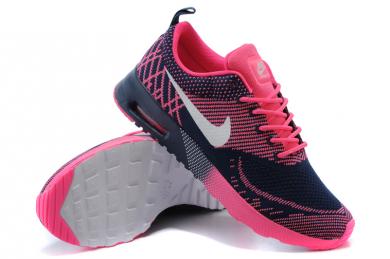 outlet store 4c6d0 c36fe Nike Air Max Thea las zapatillas de deporte de medianoche azul blanco rosa  para