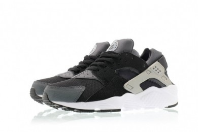 Nike Air Huarache triples de plata negro formadores de color gris