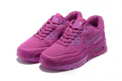 "Nike Air Max 90 ""platino puro"" zapatos formadores Mediun rojo violeta"