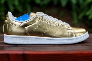 Adidas Stan Smith formadores de color de oro de lujo zapatillas de deporte