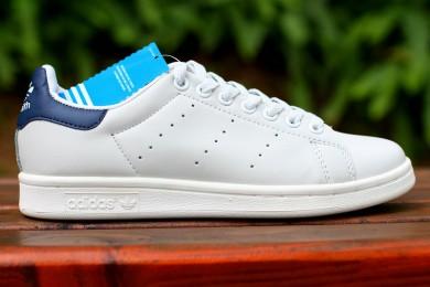 Adidas Stan Smith formadores zapatillas de deporte cian blanco