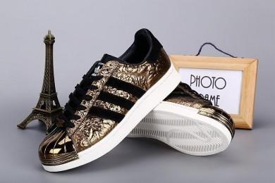 Adidas Superstar 80s puntera metálica de zapatos negro/oro