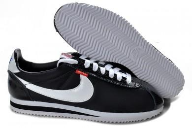 zapatos zapatillas Nike Classic Cortez Nylon para hombre Negro Blanco