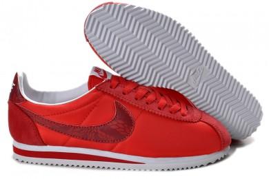 zapatillas de deporte Nike Classic Cortez Nylon únicos rojo de mujeres