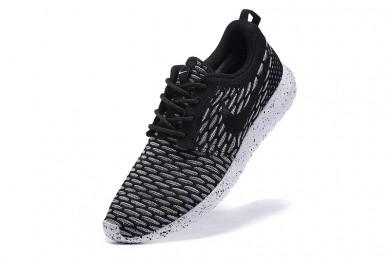Nike Roshe Run Flyknit para hombre Dim gris/negro zapatos de formadores
