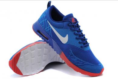 zapatos Nike Air Max trainers Thea azul real/azul de los Dodgers/blanco/naranja-rojo para el hombre