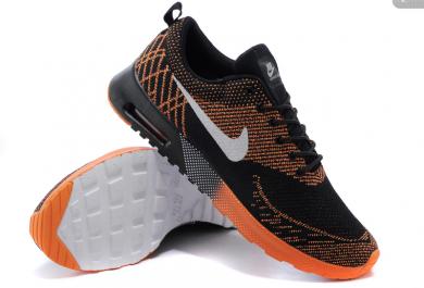 Nike Air Max zapatillas de deporte Thea Negro/naranja/blanco para hombre