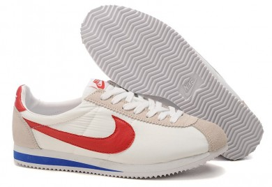 formadores Nike Classic Cortez Nylon para hombre Blanco Beige Azul Rojo