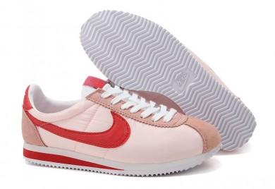 formadores Nike Classic Cortez Nylon caliente Rojo Rosa para mujeres