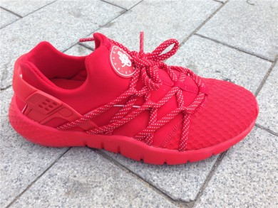 Nike Air Huarache zapatos formadores de color rojo