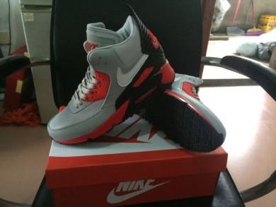 Nike Air Max 90 zapatos de color gris-rojo Hightop