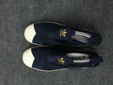 Adidas Superstar SLIP ON azul medianoche/formadores de color beige zapatillas de deporte
